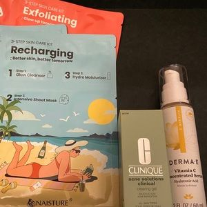 Skincare LOT - CLINIQUE - DERMA~E - NAISTURE. NEW